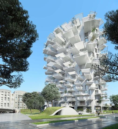 آَشنایی با شاهکار طراحی برج«درخت سفید» در فرانسه