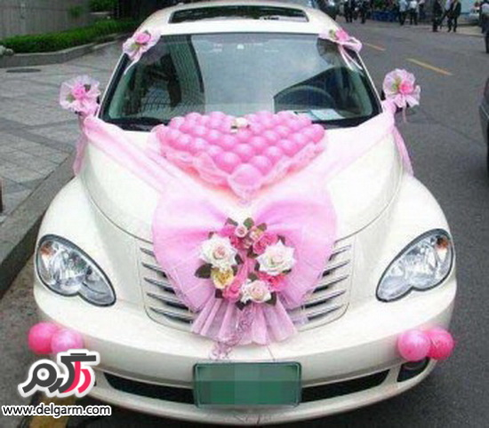 مدل تزیین ماشین عروس 2014