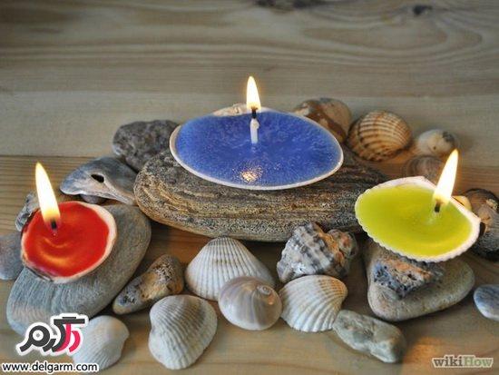 آموزش درست كردن شمع با صدف