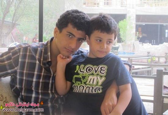 عکسی از پسر کوچولو و برادر زاده امیر جعفری