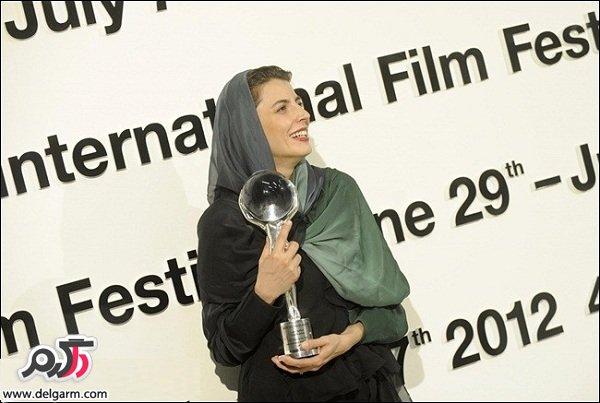عکس های لیلا حاتمی بعد از گرفتن جایزه جشنواره کارلووی واری