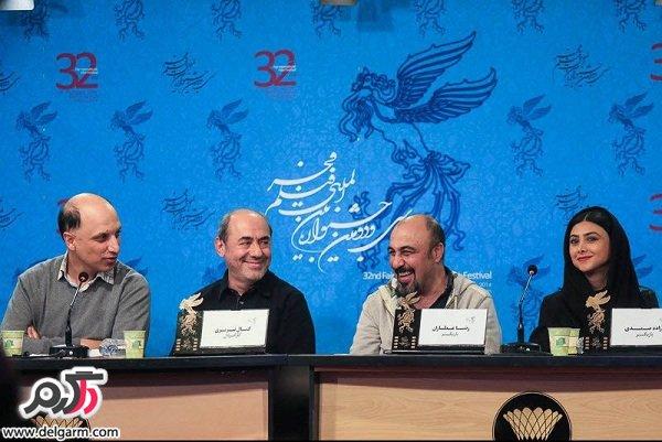 عکسهای جدید رضا عطاران و آزاده صمدی/نشست خبری فیلم طبقه حساس