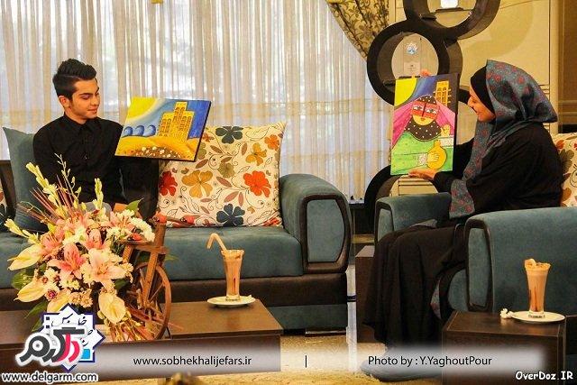 مجموعه عکسهای دیدنی و بسیار زیبای شبنم مقدمی و ارسلان قاسمی مادر و پسر سریال هفت سنگ در برنامه صبح خلیج فارس/شهریور 93