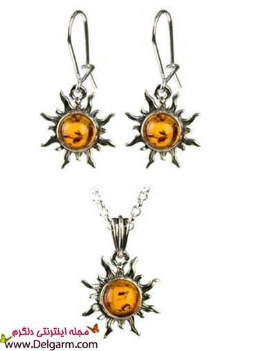مدل ست جواهرات کهربایی + عکس