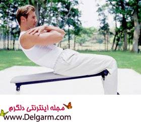 کوچک کردن شکم به وسیله ورزش های اسان