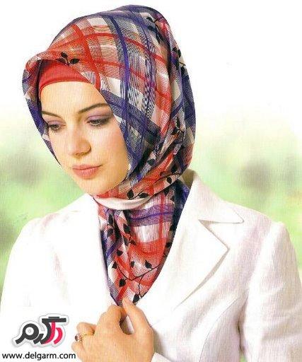 مدل شال و روسری الناز شاکردوست مدل روسری ساتن شیک و زیبا