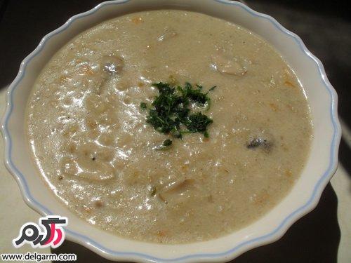 طرز تهیه سوپ شیر با قارچ