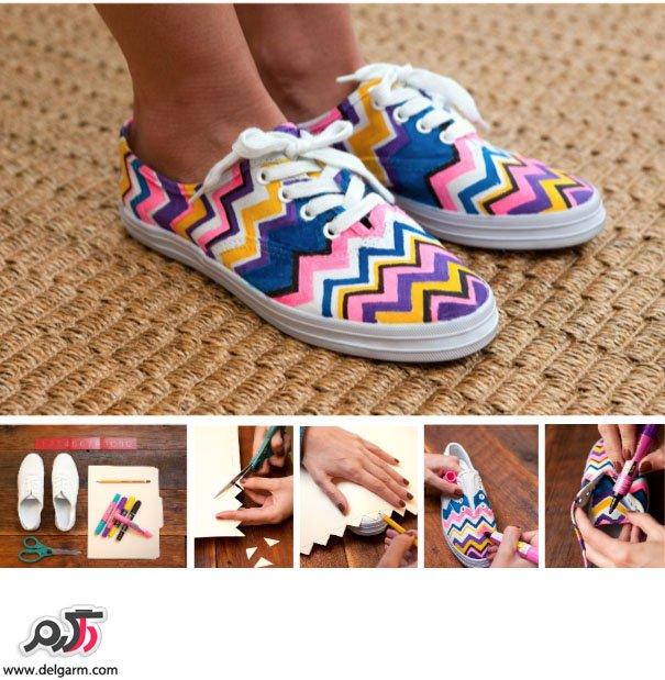 دیزاین کفش ساده