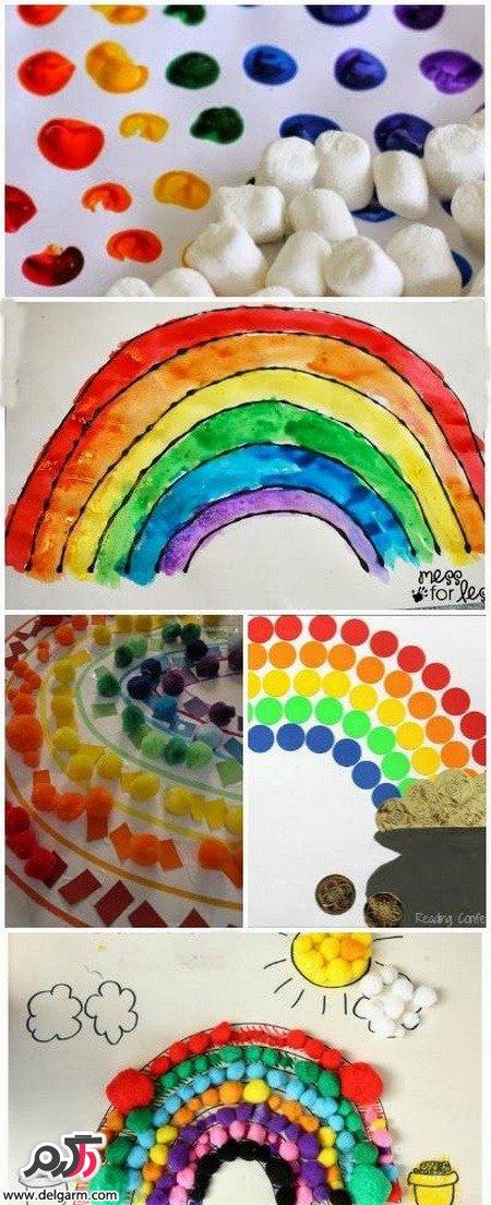 آموزش ساخت کاردستی رنگین کمانی