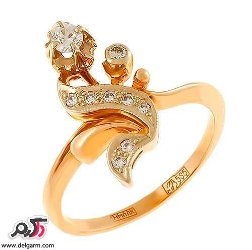 مدل انگشتر طلا سفید بدون نگین