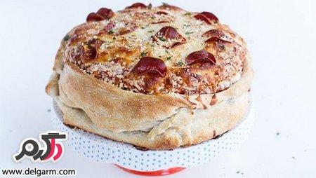 تهیه کیک تولد پیتزا