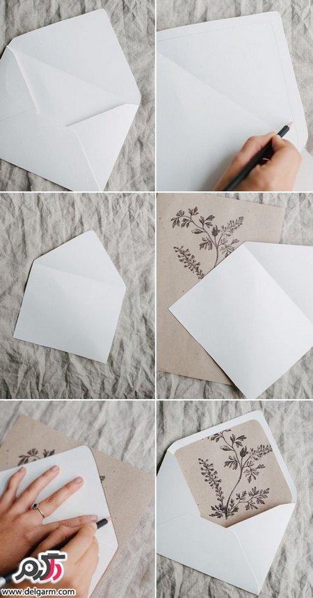 ایده جذاب و جالب و همچنین ساده جهت کارت دعوت