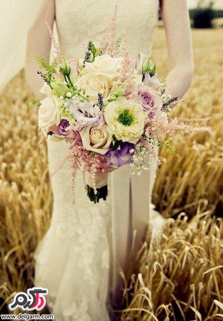 مدل دسته گل زیبا عروس با تم جذاب