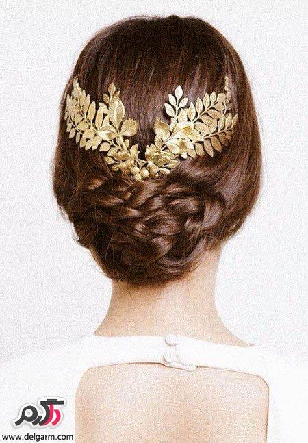 مدل مو عروس همراه با رنگ مو روشن و جذاب