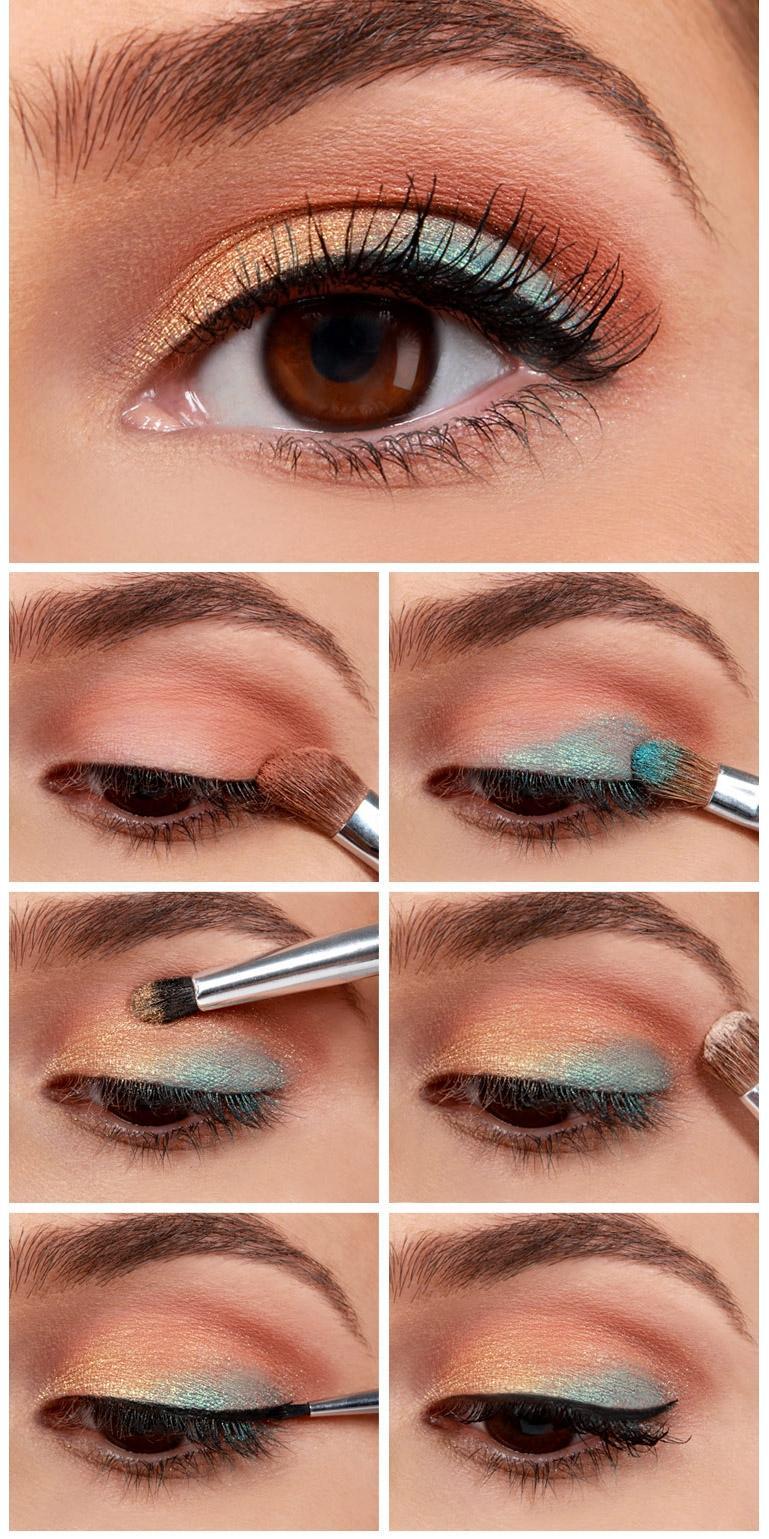 آموزش آرایش چند رنگ چشم