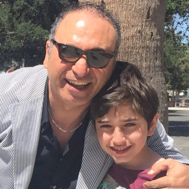 تصاویر حمید فرخ نژاد و پسرش