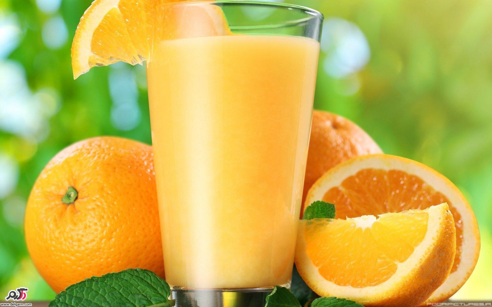 درمان کلیه ها با آب پرتقال