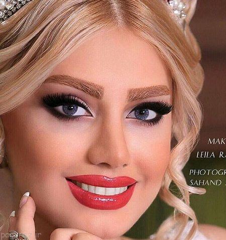 میکاپ زیبای عروس ایرانی جدید