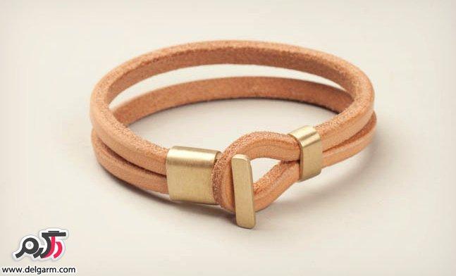 دستبند چرم جدید و زیبا