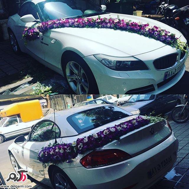 ماشن عروس  با گل های زیبا