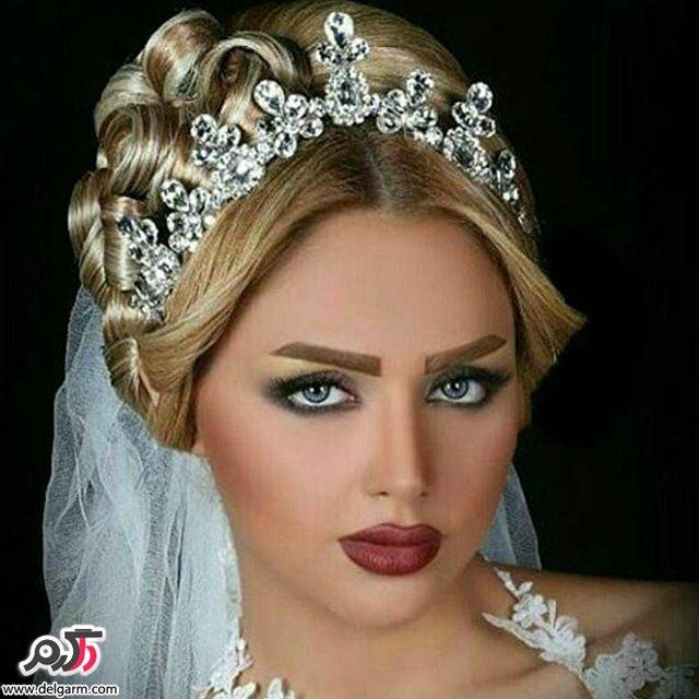 آرایش چشم و صورت عروس