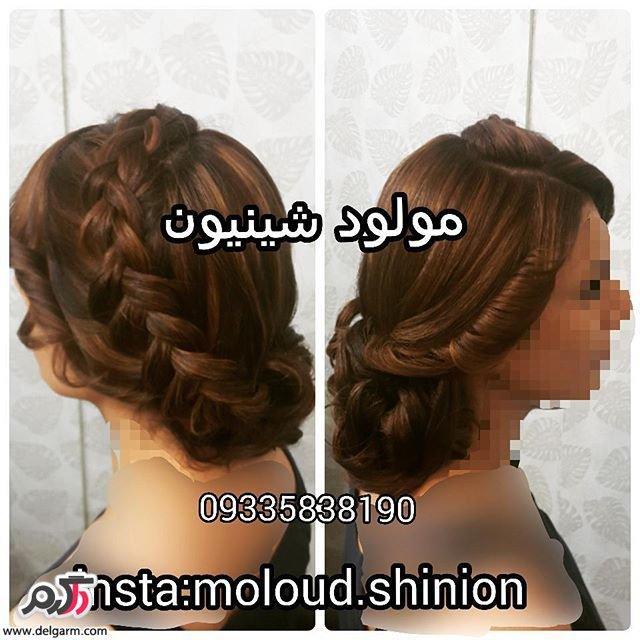 شینیون زیبا برای موی عروس