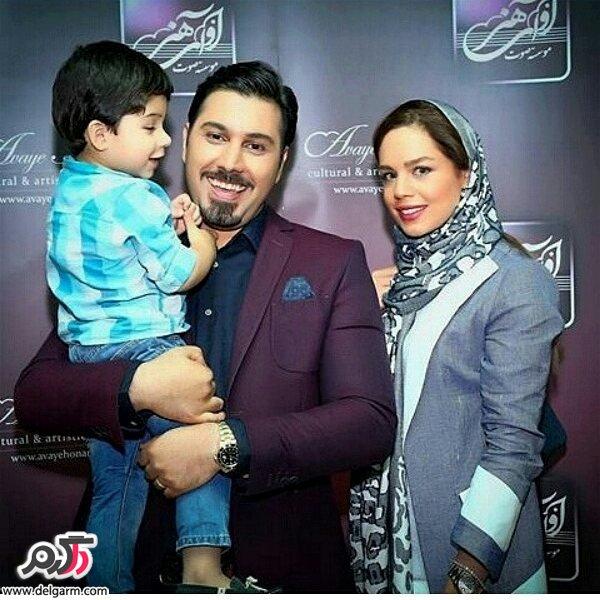 عکس احسان خواجه امیری با پسرش