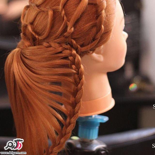 طرح هایی زیبا از بافت روی مو