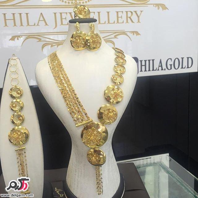 سرویس طلا بسیار شکیل و زیبا