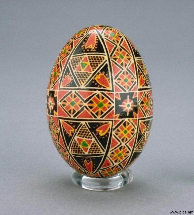 تصاویر زیبا روی تخم شتر مرغ