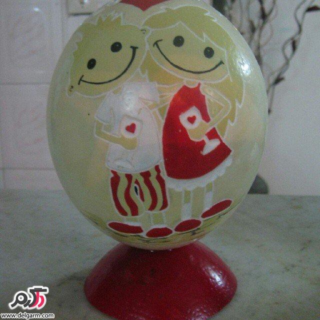 نقاشی روی تخم شتر مرغ 2016
