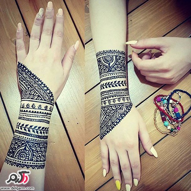 طرح های زیبا از حنا روی دست