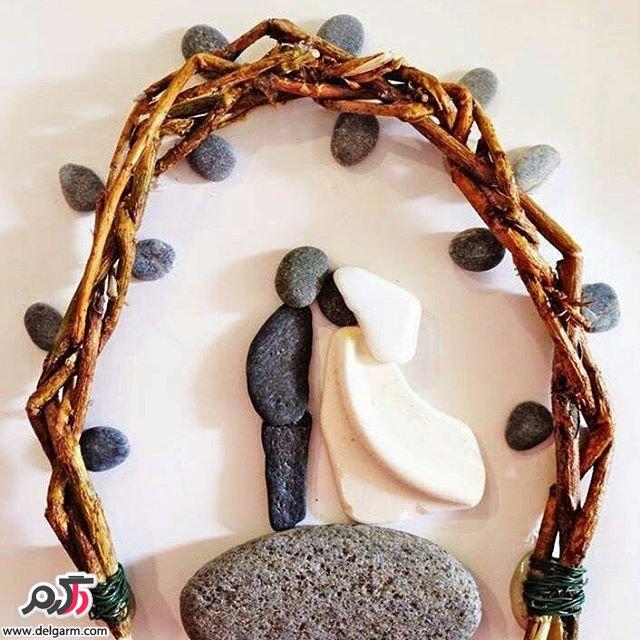 نمونه های زیبا از تابلو سنگی