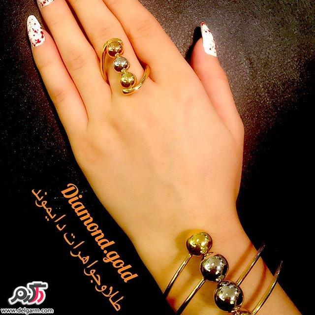 دستبند طلا سری جدید 2016