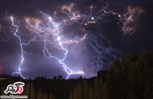 رعد و برق آتشفشانی در شیلی /نشنال جئوگرافیک