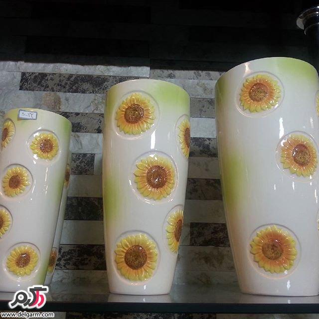 نمونه های زیبا و جدید از گلدان سرامیکی