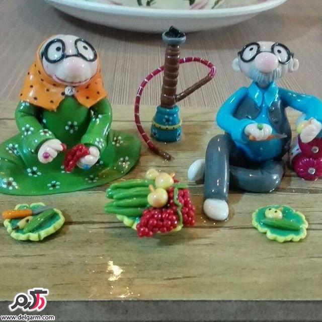 تزئینی های زیبا با خمیرچینی