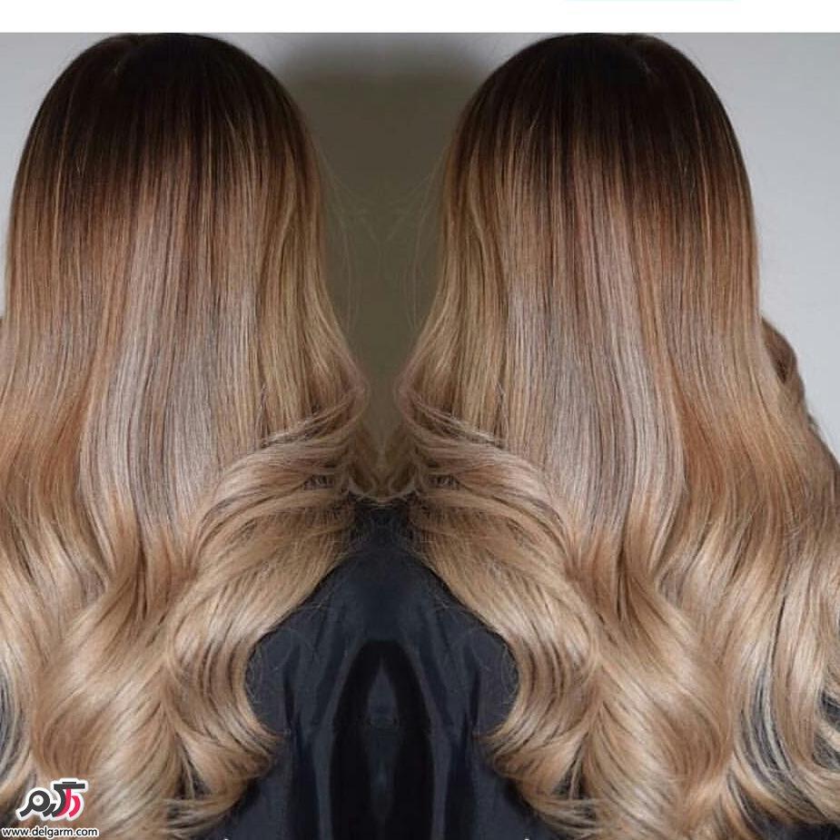 رنگ مو ترکیبی زیبا 2017