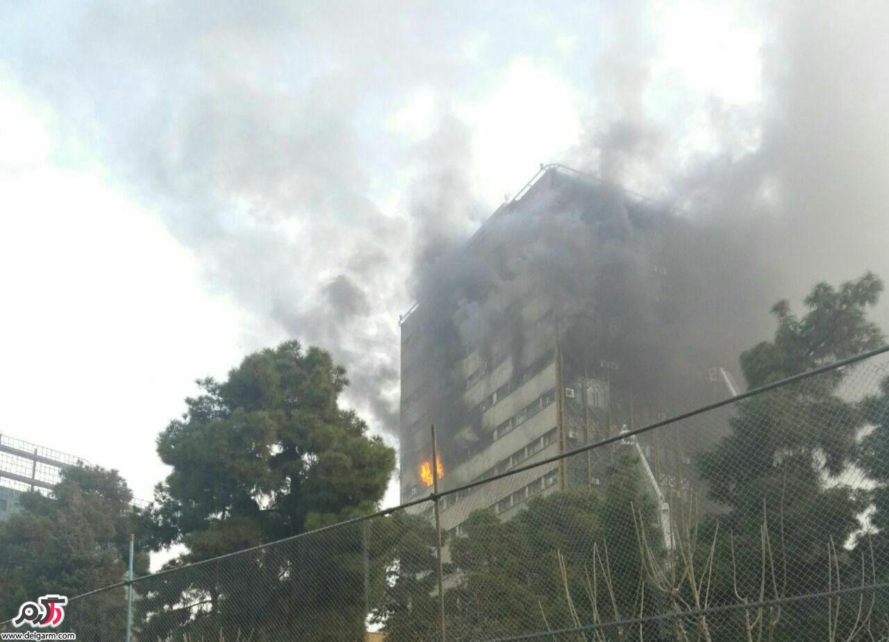پلاسکو آتش گرفت