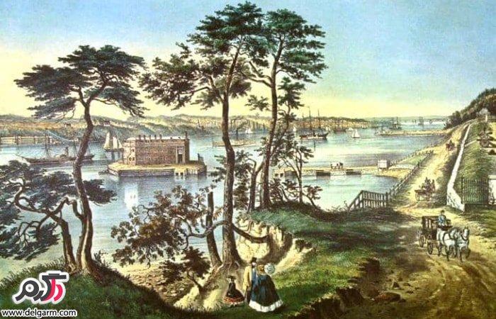 جزیره استاتِن (Staten Island) واقع در شهر هَمیلتون (Hamilton)