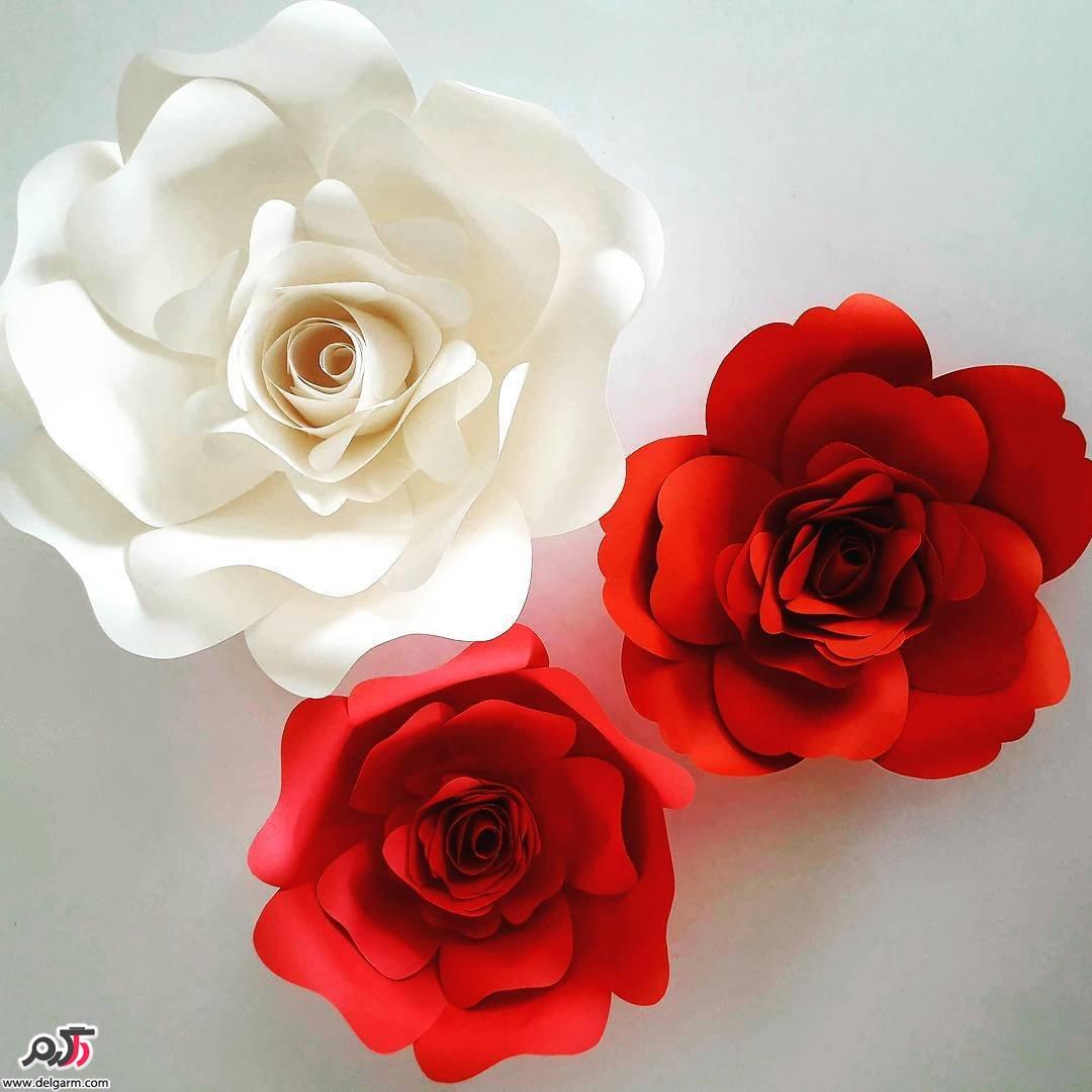 آموزش گلسازی | درست کردن دسته گل عروس و چند مدل گل کاغذی (ساده و زیبا)