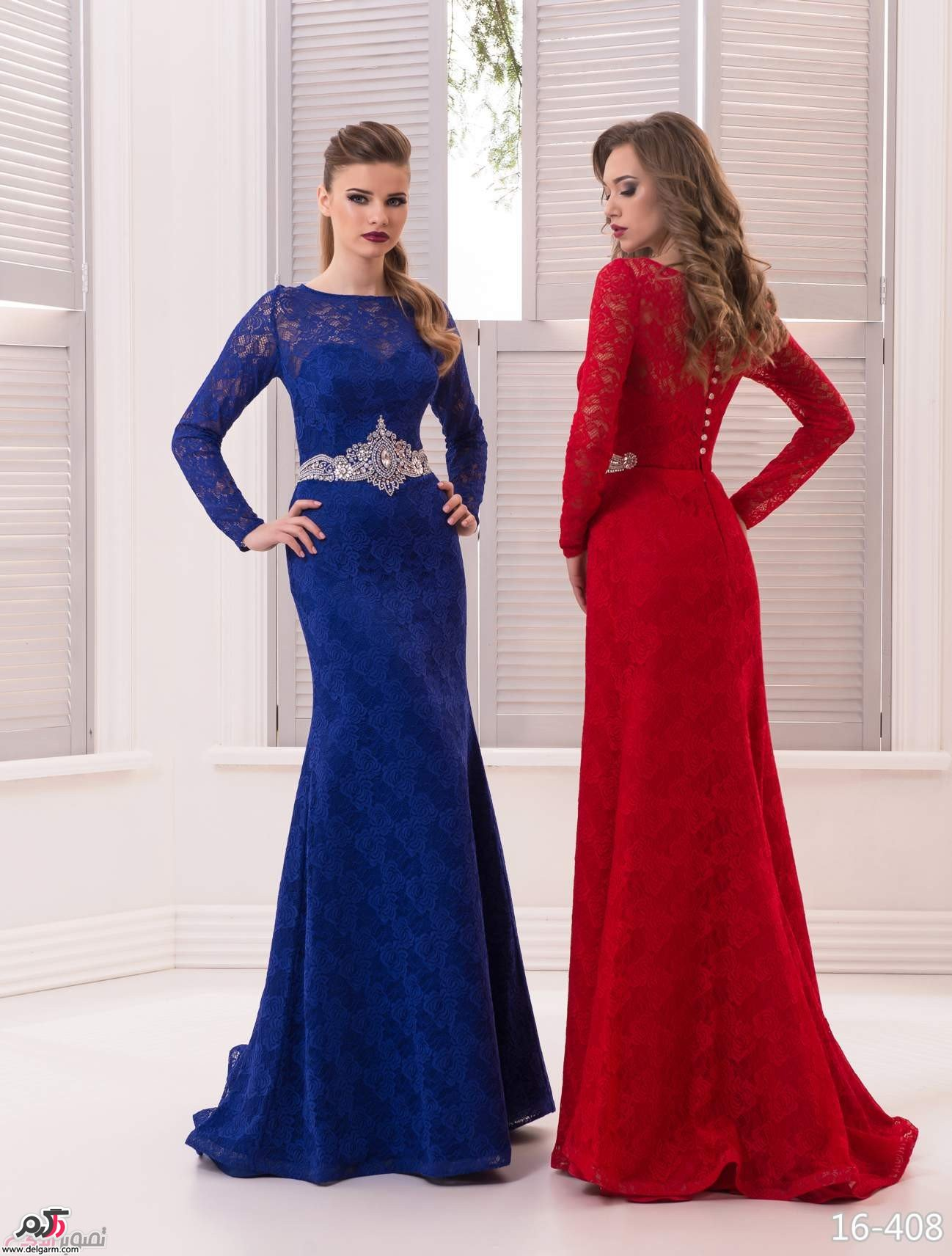 مدل دامن بلند مجلسی کرپ جدیدترین مدل لباس شب مجلسی ۲۰۱۷