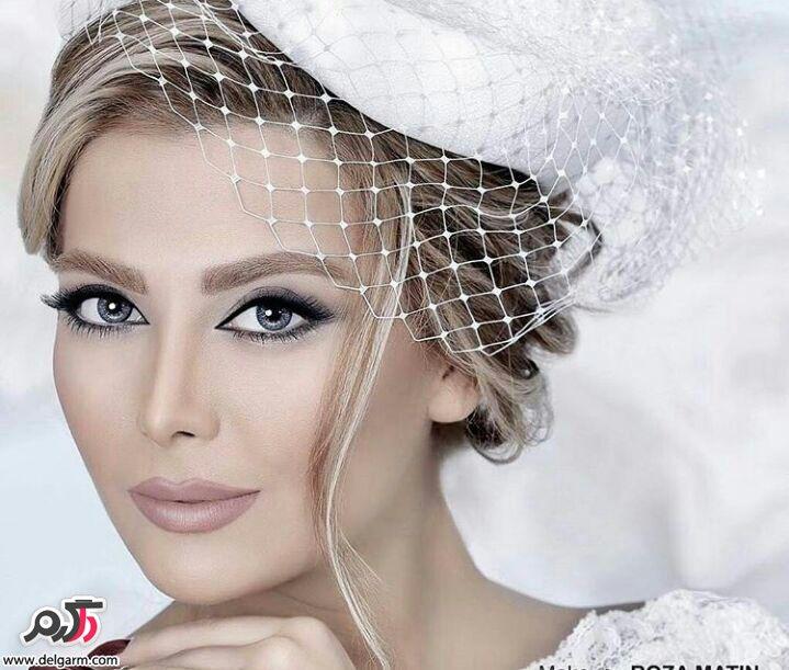 میکاپ زیبا صورت عروس