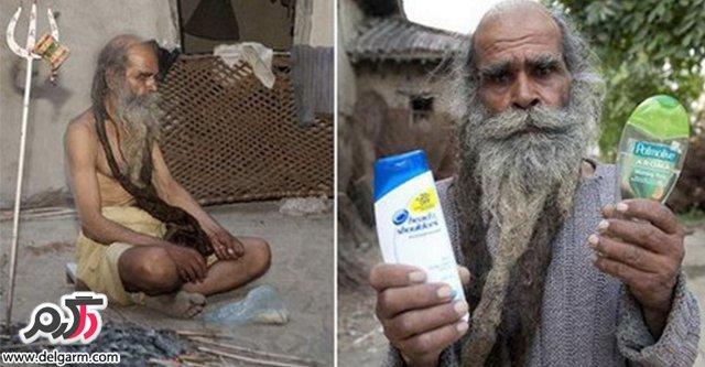 سینگ: مرد هندی که 37 سال حمام نرفته+عکس