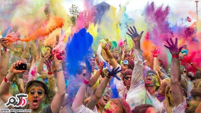 جشن رنگ در هندوستان