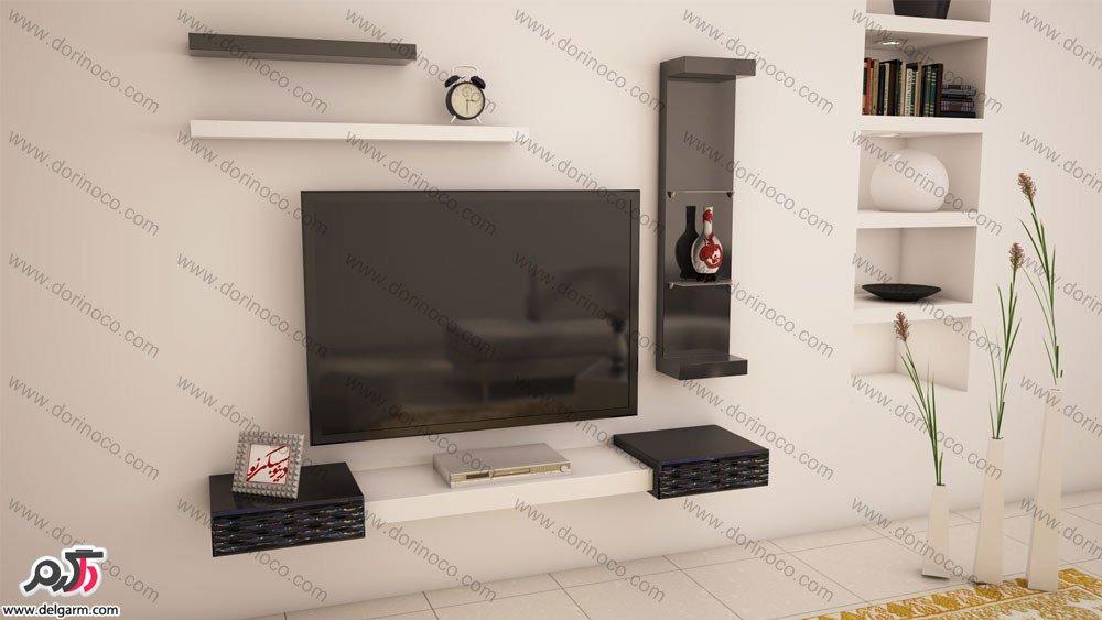 مدل میز تلویزیون دیواری جدید و شیک + تصاویر, دکوراسیون داخلی