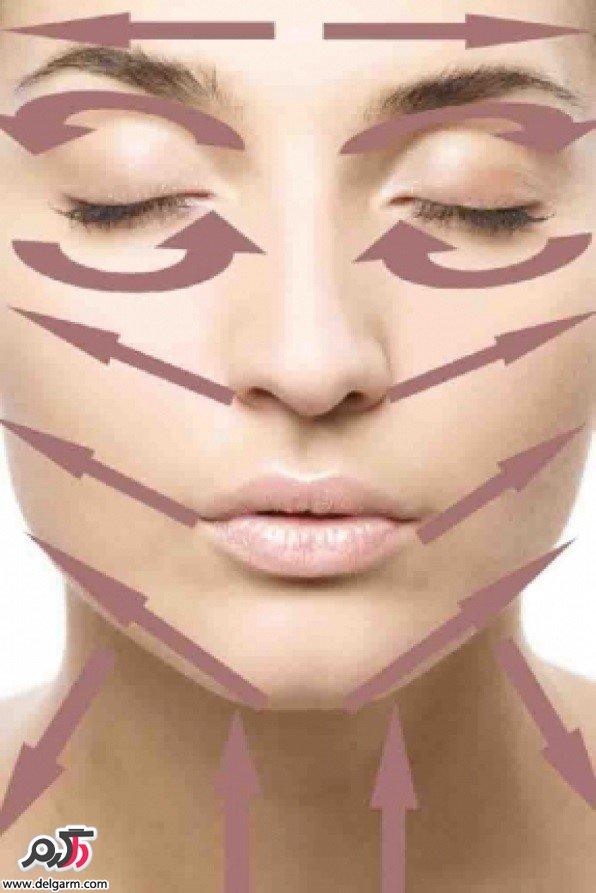 روش مناسب برای ماساژ صورت و دور چشم