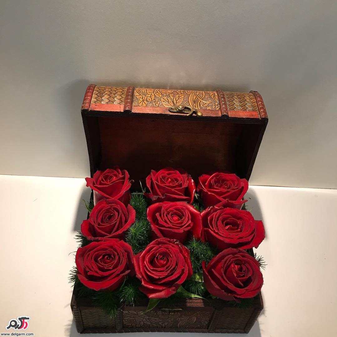 باکس گل رز قرمز