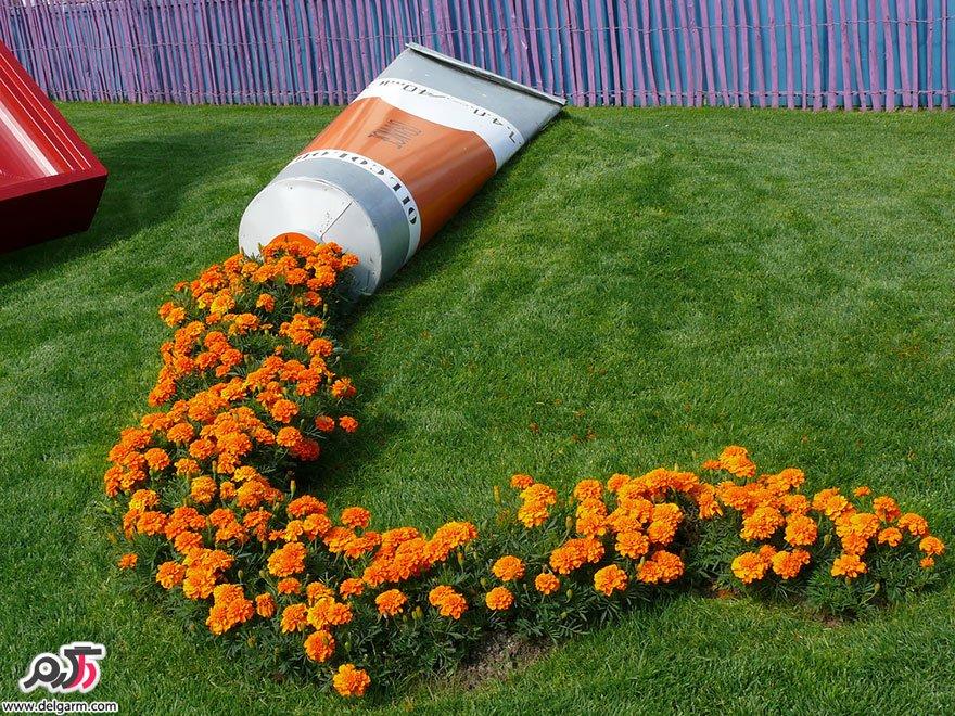ایده خلاق برای چیدمان گل