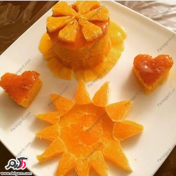 کرپ پنیری با سس پرتقال